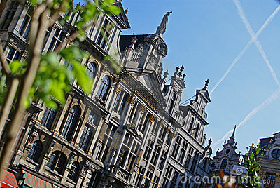 Springtime on the Grand Place in Brussels