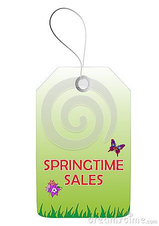Springtime sales tag