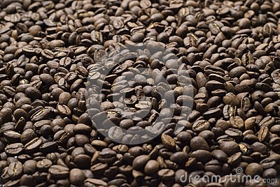 Sprinkle of coffee beans