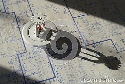 Sprinkler Head and Blueprints