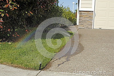 Sprinkler Making a Rainbow
