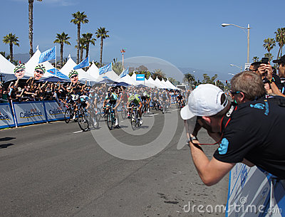 Sprint Finish 2013 Tour of California Editorial Photography