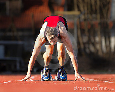 Sprinter s start in track and field
