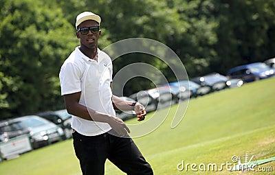 Sprinter Usain Bolt in Czech republic Editorial Photography