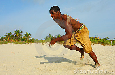 Sprinting On The Beach