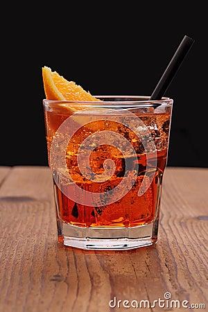 Free Spritz Aperitif - Orange Cocktail With Ice Cubes Stock Photo - 41215640