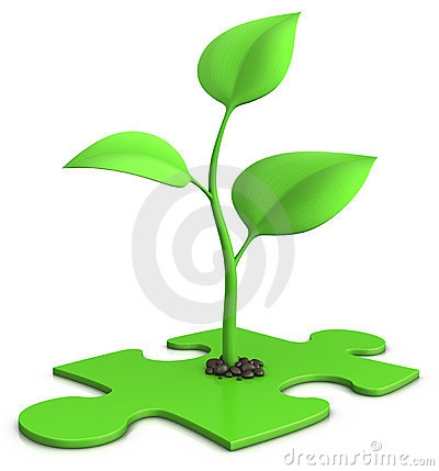 Free Sprout On Puzzle Royalty Free Stock Images - 14039369