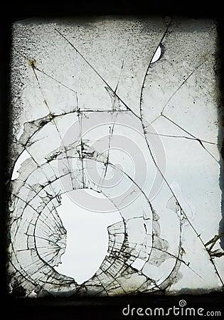 Sprucket gammalt fönster