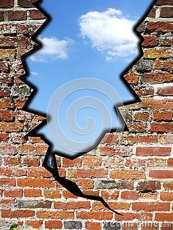 Sprung in der Wand