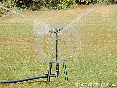 spruzzi l 39 irrigazione fotografia stock immagine 45717549