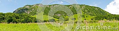 Spurs Chandolaz ridge. Mountainous country. Plateau