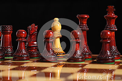 Spy bishop on the chessboard