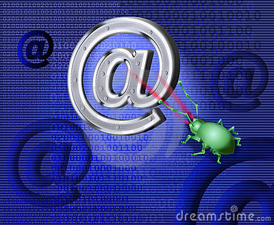 A spy virus breaks up e-mail