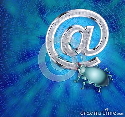 A spy virus breaks up e-mail