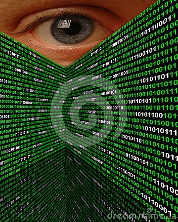 Глаз Spyware Cyber преследуя