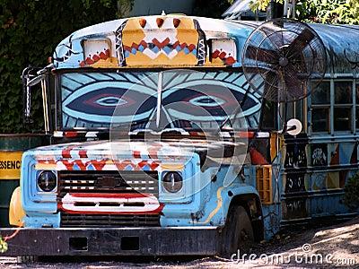 Squadra del bus di colore