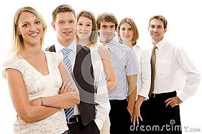 Squadra felice di affari