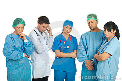 Squadra triste dei medici