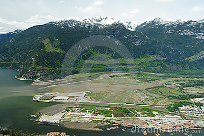 Squamish town and mountain