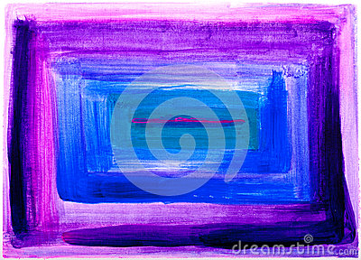 Square abstract purple and blue painting