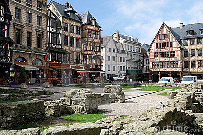 Square Aitre de Saint Maclou in Rouen, France.