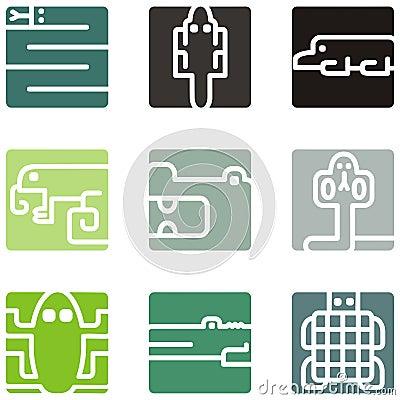 Square animal icons