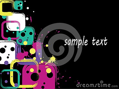 Square background with blots