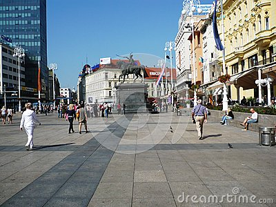 Square Ban Jelacic,Zagreb Editorial Image