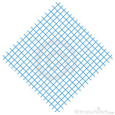 Square with blue lines