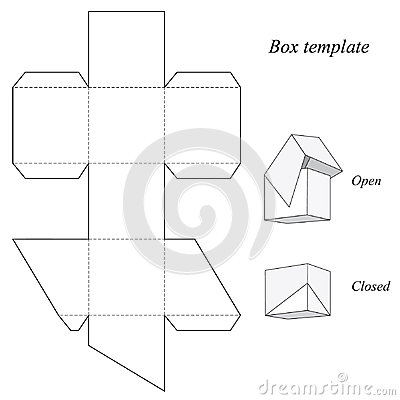 Free Square Box Template With Lid Royalty Free Stock Photos - 48154678