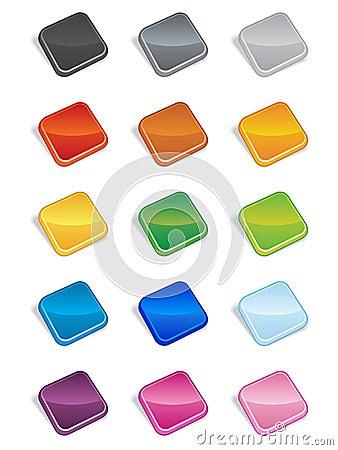 Square Buttons 3D