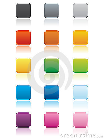 Free Square Buttons EPS Stock Images - 15390484