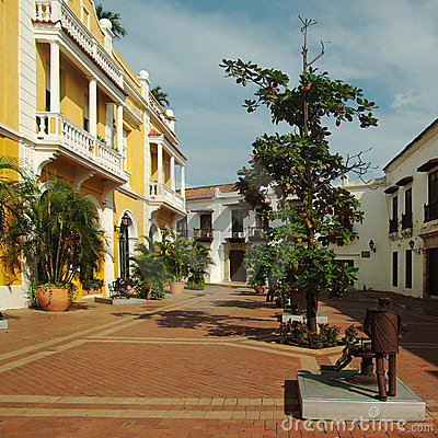 Square in Cartagena, Colombia Editorial Photography