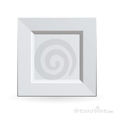 Square china plate
