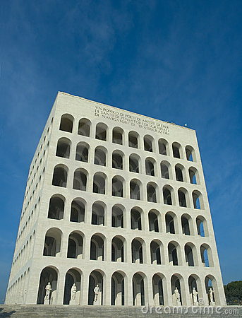 Square coliseum in Eur, Rome