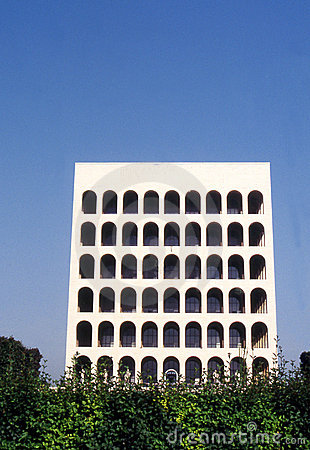 Square coliseum in Eur - Rome