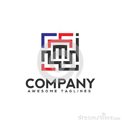 Free Square Color With Letter M Logo Stock Images - 138098114