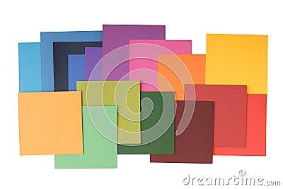 Square colored paper