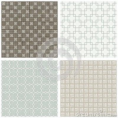 Square cross hatch clover scrapbook backgrounds