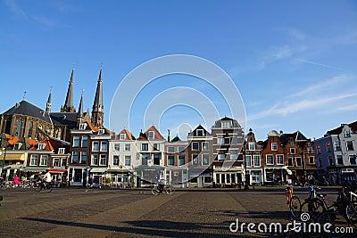 The square in Delft Editorial Image