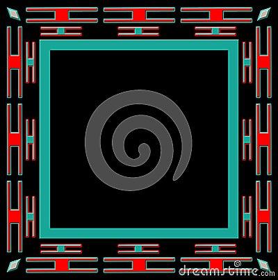 Square ethnic frame