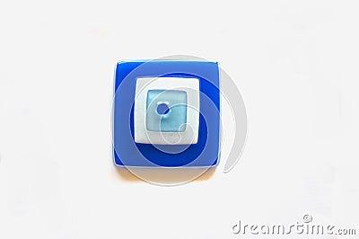 Square evil eye bead