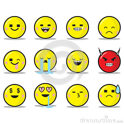 Square Eyes Emoticon Set