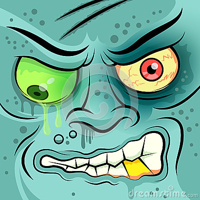 Square Faced Dead Zombie