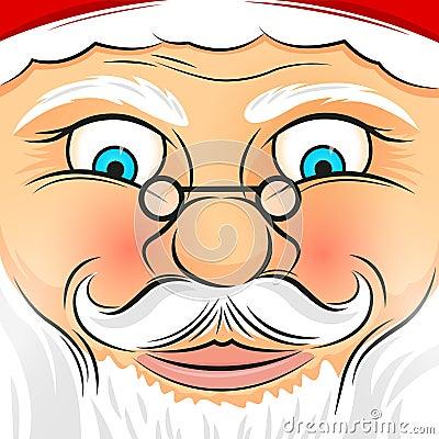 Square Faced Santa Claus