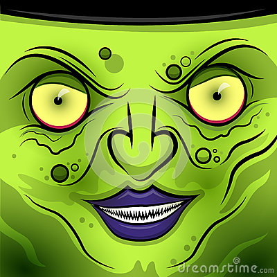 Square Faced Wicked Witch