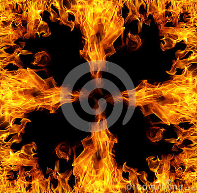 Square flames