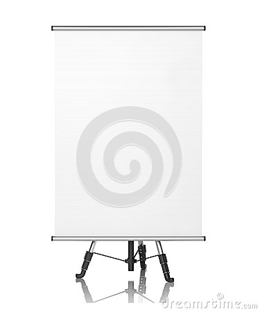 Square Flipchart on White Background.