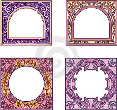 Square frame decorations