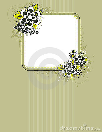 Square frame with flowers